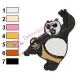 Kung Fu Panda Embroidery Design 04